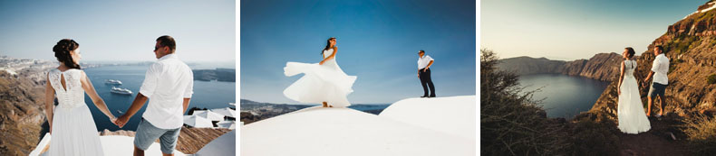 santorini yana and andrey wedding le ciel caldera view
